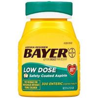 TERBATAS Bayer Aspirin Regimen Low Dose 81 mg Isi 300 Enteric Coated