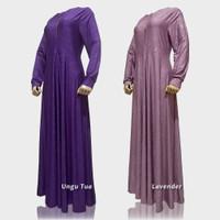 Baju Premium Embos M Dress Jumbo Long Jersey Wanita XL Motif Gamis Bus