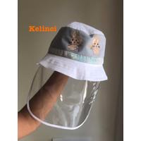 dengan Topi Protection cover perlindungan Hat Embroidery. Arkamaya Att