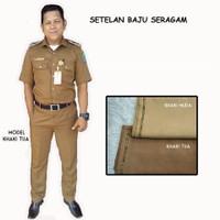 Seragam Keki Baju Bandung bisa Setelan Murah Pemda COD Khaki PNS