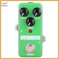 KOKKO FOD3 Pedal Efek Gitar Elektrik Mini Overdrive Portable dengan