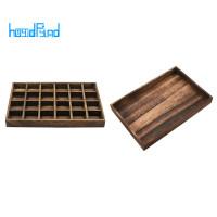 2Pcs Wooden Jewelry Tray Jewellery Organizer Bangle Choker Storage