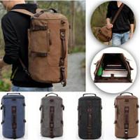 import tas pakaian bagpack kanvas 3in1 tas tabung tas selempang tas ra