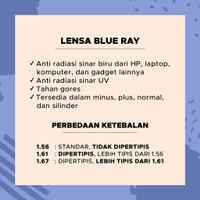 -10.00 Kacamata UV Lensa Minus s d Gadget Radiasi Anti -6.25 Blueray A