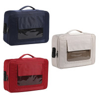 Visible Password Double Layer Files Bag Briefcase Document Pouch
