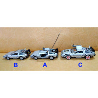 DIECAST WELLY 1:24 DELOREAN TIME MACHINE - BACK TO THE FUTURE