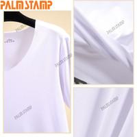 t-shirt panas ramping warna solid Pria MT V-neck lengan musim pria ker