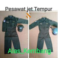 PILOT ANAK KOSTUM Baju pilot Anak TEMPUR JET Warpak PESAWAT
