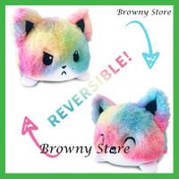 Mainan Boneka Plush Tiktok Populer Dapat Dibalik Untuk Kucing Dan Anji