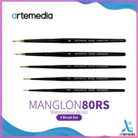 Dijual Kuas Lukis Artemedia Round Manglon Brush Set