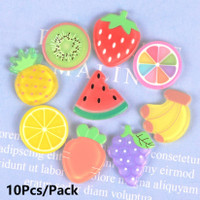 10Pcs/Pack Fruit Slices Candy Toy Resin Flatback Cabochon Earring Pin