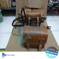 FREE ONGKIR Back Rack behel plus Side bag kawasaki W175.