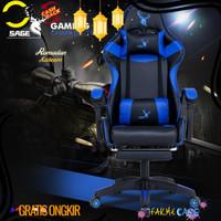 Gratis Ongkir SAGE Chair Kursi bangku GAMING game With Footrest 145 °
