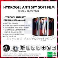 ANTI GORES HYDROGEL ANTI SPY Samsung A8 Plus DEPAN BELAKANG FULL COVER