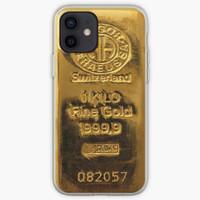 Switzerland Fine Gold Casing iphone XS MAX 12 11 8 Plus Pro case