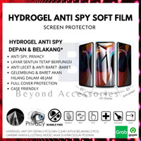 ANTI GORES HYDROGEL ANTI SPY Oppo F11 Pro DEPAN BELAKANG FULL COVER