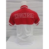 Merah shirt wangki Putih kerah baju polo Kemerdekaan Indonesia Kaos re