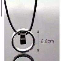 stenless tali wanita pria kalung steel titanium dan cincin bandul