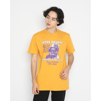 Kaos Pria Erigo T-Shirt Mamba Forever Cotton Combed Mustard