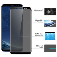 Privacy For Samsung S8 S9Plus Note8 AntiSpy Glass Protector 5t