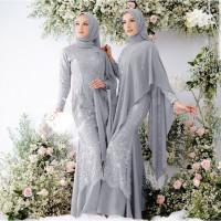 Wanita Pesta Couple Muslimah Gamis Gaun - Mewah Murah ANJS Baju Pesta
