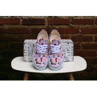 Sepatu PEANUTS x Vans Authentic Snoopy Dance Party Pink White -Extra