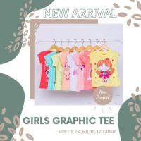 8-12 LilCRUZ Perempuan santai perempuan Baju Cewek Kaos Anak tahun Ana