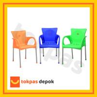 [KHUSUS GOJEKGRAB] Kursi Plastik Bangku Senderan Fuga Chair Shinpo 29