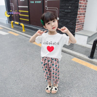 YESBABY Girl Clothes Set Casual Short Sleeve Chinese Print Top Flow 0y