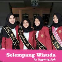 Selempang Nama Wisuda Bludru Custom / Slendang Wisuda / Salempang