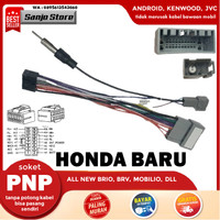 Kabel Audio Soket PNP Headunit Android Honda Baru BRIO BRV Mobilio CRV