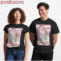 Kaos Premium Whirlpool Colorful Swirls Abstract Drawing By Cou T-Shirt