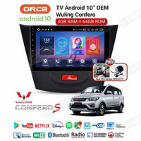 AUDIO MOBIL HEAD UNIT ANDROID WULING RAM 4 GB ROM 64 GB ANDROID ORCA