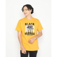 Kaos Pria Erigo T-Shirt Black Mambba Cotton Combed Mustard - M
