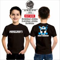 Kaos Baju Anak Game MINECRAFT FROST DIAMOND TEAM Kaos Game Youtube -
