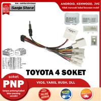 Kabel Audio Soket PNP Head Unit Android Toyota VIOS Sienta Innova Rush