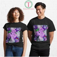 Kaos Pastelcolors Roses And A Little Ladybug 441 Unisex T-Shirt