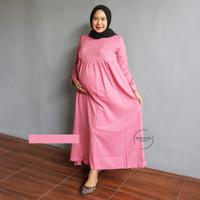 Panjang - Katun Hamil Jumbo Mutiara Baju Menyusui Muslim Dada Gamis GM
