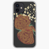 Case gold color lines and rose floral motifs Oppo F3 F5 F7 F9 F1S