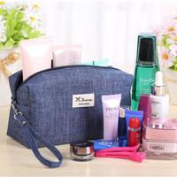 KED4 265 Simple Cosmetik Pouch Tas Kosmetik Denim Cosmetic Bag Organiz