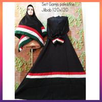 Terbaru GAMIS SET PALESTINA 120CM 2 SISI syari baju muslim jilbab