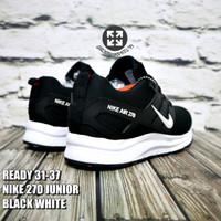PGS Sepatu Anak Hitam Sekolah Laki Laki Perempuan Sneakers Nike Air