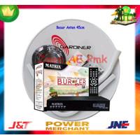Paket Dish Antena Parabola Mini ODU 45cm Ninmedia Receiver Matrix