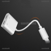 Dual Lightning Adapter Charging Splitter Audio Cable iPhone 7 7Plus