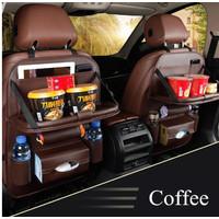Nissan March Car Seat Back Cover Organizer Tas Leather Meja Lipat