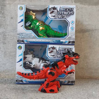 Mainan hewan dinasaurus trex batre robot dino edukasi anak Berkualitas