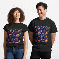 Kaos Pattern With Musical Instruments 772 Unisex T-Shirt