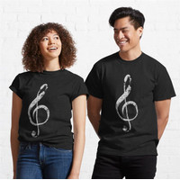 Kaos Musical Noteghift For Lovers Music 956 Unisex T-Shirt