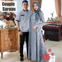 baju gamis couple kapel lebaran muslim muslimah pakaian pasangan