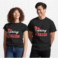 Kaos Passion In The Kitchen Talented Cook 317 Unisex T-Shirt